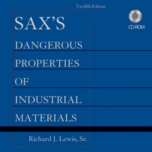 Sax s Dangerous Properties of Industrial Materials, Set CD-ROM: Richard J. Lewis