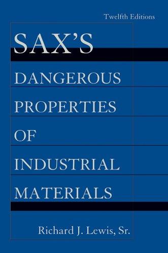 9780470623251: Sax's Dangerous Properties of Industrial Materials, 5 Volume Set