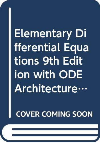 9780470626245: Elementary Differential Equations 9th Edition with ODE Architecture 1.5 CD Set