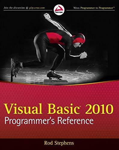 9780470626566: Visual Basic 2010 Programmer's Reference