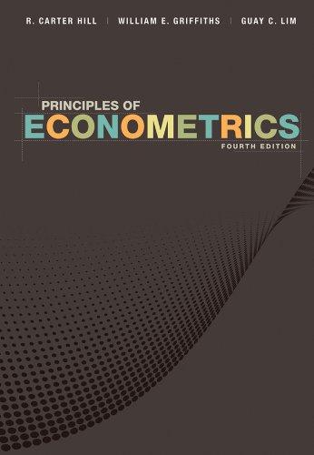 Principles of Econometrics: Hill, R. Carter