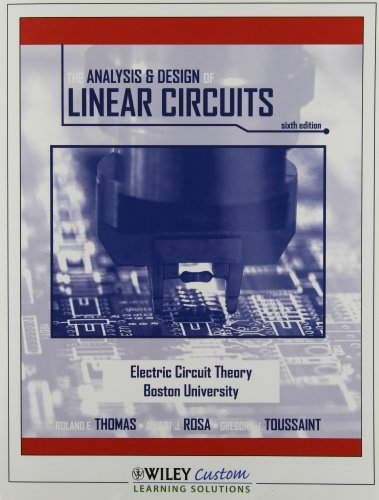 9780470630099: The Analysis & Design of Linear Circuits