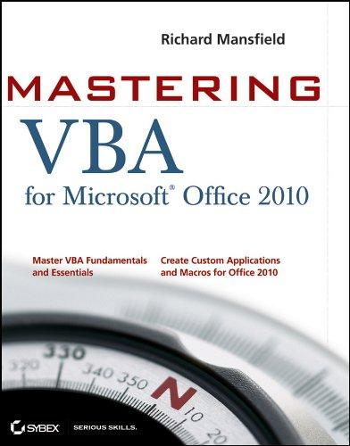 9780470634004: Mastering VBA for Office 2010