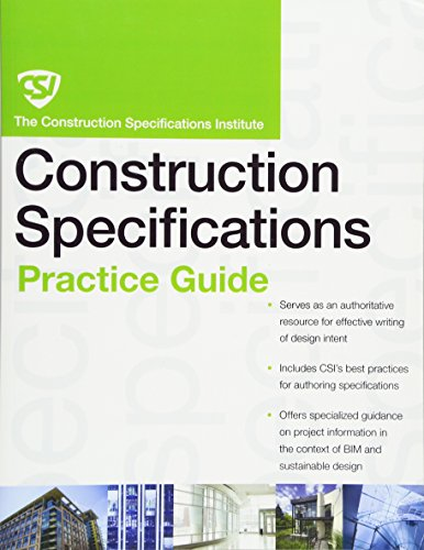 9780470635209: The CSI Construction Specifications Practice Guide (CSI Practice Guides)