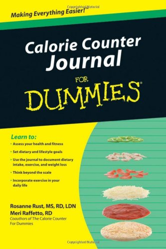 9780470639986: Calorie Counter Journal For Dummies