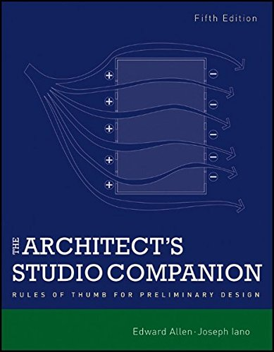 9780470641910: The Architect's Studio Companion: Rules of Thumb for Preliminary Design