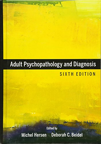 9780470641941: Adult Psychopathology and Diagnosis