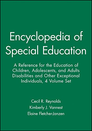 9780470642160: Encyclopedia of Special Education, 4 Volume Set: A Reference for the Education of Children, Adolescents, and Adults Disabilities and Other Exceptional Individuals