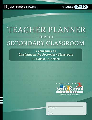 9780470644003: Teacher Planner for the Secondary Classroom: A Companion to Discipline in the Secondary Classroom