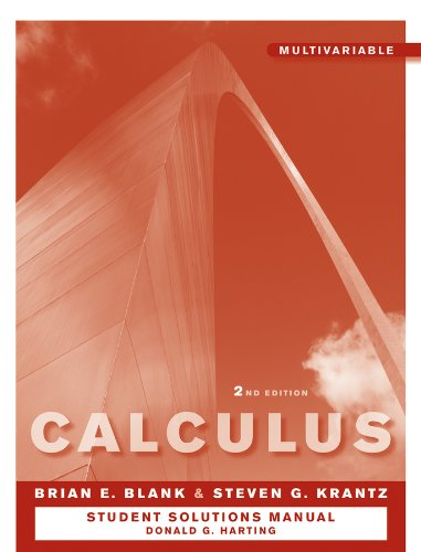 9780470647240: Student Solutions Manual to accompany Calculus: Multivariable 2e