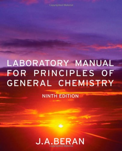9780470647899: Laboratory Manual for Principles of General Chemistry