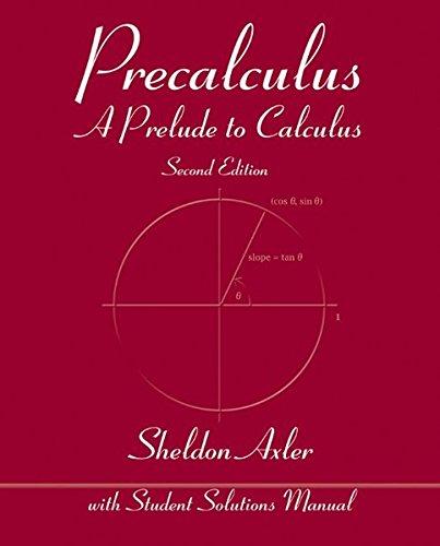 9780470648049: Precalculus: A Prelude to Calculus