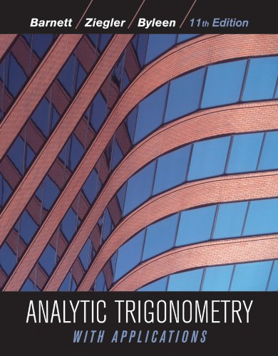 9780470648056: Analytic Trigonometry with Applications