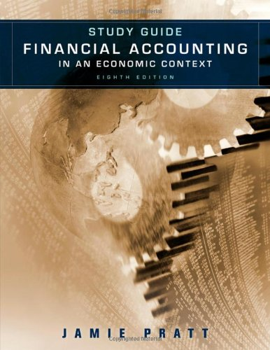 9780470650370: Study Guide to accompany Financial Accounting in an Economic Context 8e