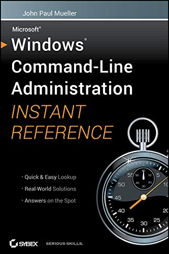 9780470650462: Windows Command Line Administration Instant Reference