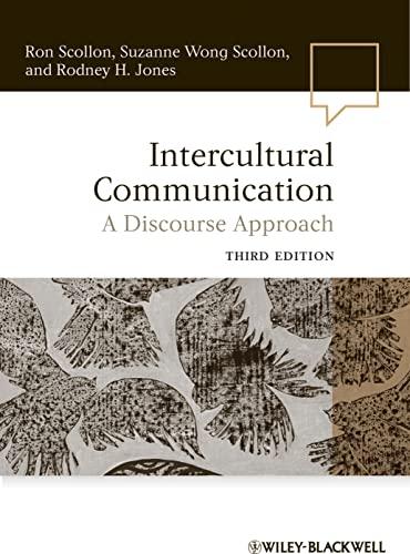 9780470656402: Intercultural Communication Intercultural Communication: A Discourse Approach a Discourse Approach (Language in Society)
