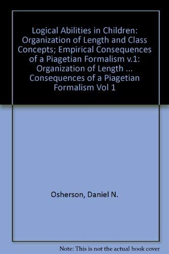 Logical Abilities in Children: Organization of Length: Osherson, Daniel N.