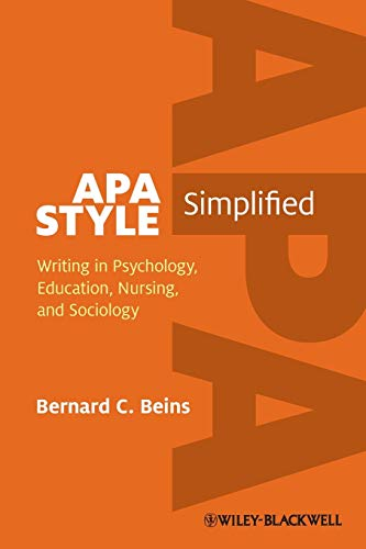 9780470671238: APA Style Simplified: Writing in Psychology, Education, Nursing, and Sociology
