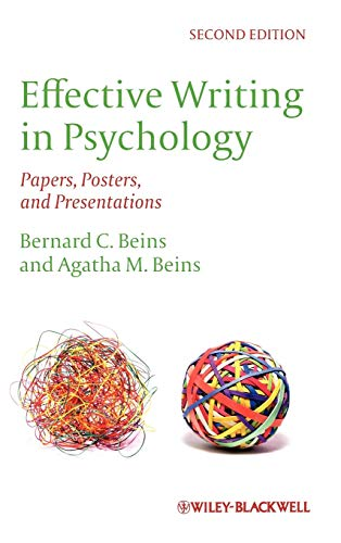 9780470671245: Effective Writing in Psychology: Papers, Posters,and Presentations