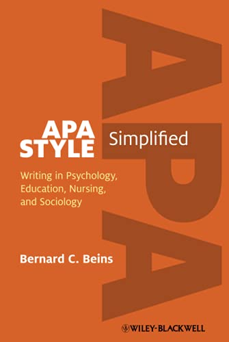 9780470672327: APA Style Simplified: Writing in Psychology, Education, Nursing, and Sociology