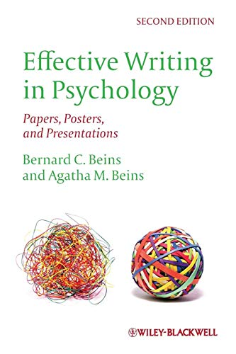 9780470672440: Effective Writing in Psychology: Papers, Posters,and Presentations