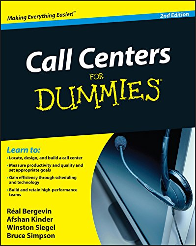 9780470677438: Call Centers for Dummies