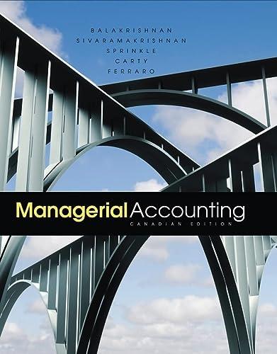 Managerial Accounting: Ferraro, Maria, Carty,