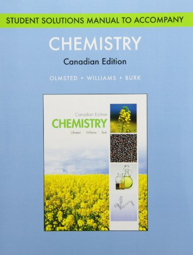 Chemistry, Student Solutions Manual: Olmsted, John A.,