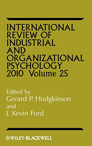 9780470682593: International Review of Industrial and Organizational Psychology 2010