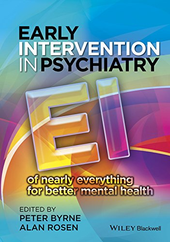 9780470683422: Early Intervention in Psychiatry: EI of nearly everything for better mental health