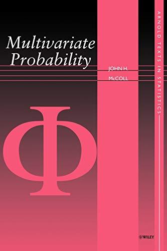 9780470689264: Multivariate Probability