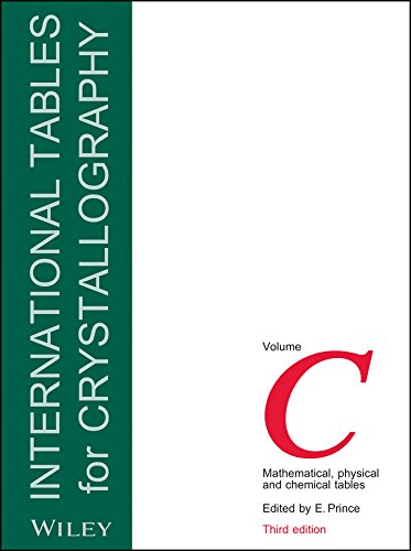 9780470710296: International Tables for Crystallography: Mathematical, Physical and Chemical Tables