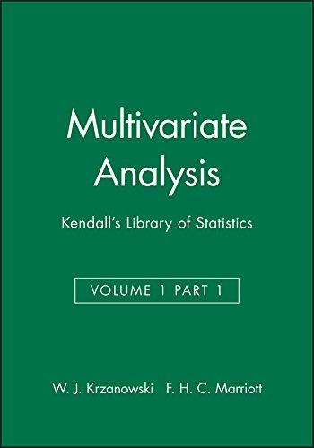 9780470711033: Multivariate Analysis: Kendall's Library of Statistics, Volume 1 Part 1