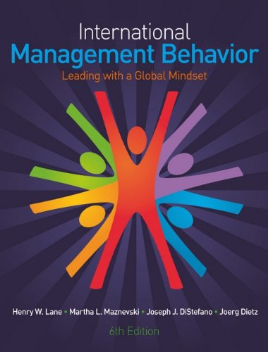 9780470714126: International Management Behavior: Leading With a Global Mindset