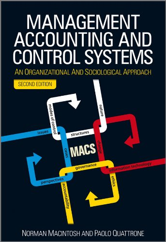 9780470714478: Management Accounting and Control Systems: An Organizational and Sociological Approach
