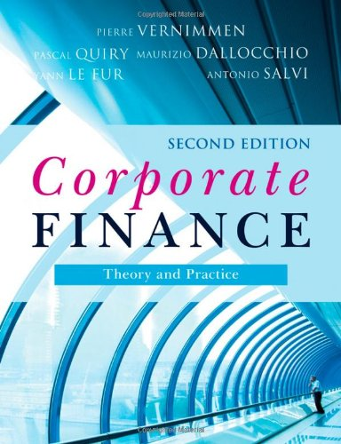 9780470721926: Corporate Finance: Theory and Practice