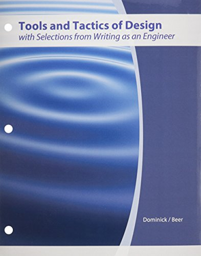 9780470732410: Tools and Tactics of Design with Selections from Writing as an Engineer
