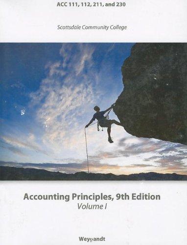 9780470734124: Accounting Principles (Wiley Custom Select) (Volume 1)