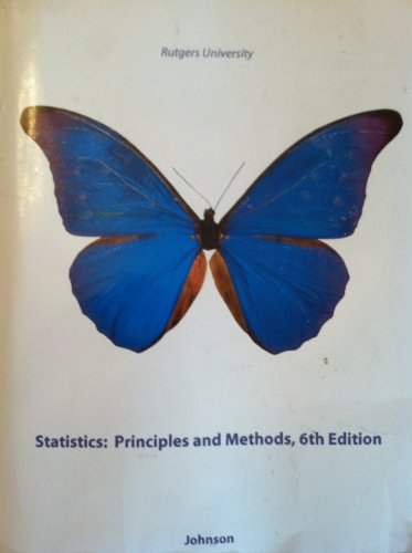 9780470734438: Statistics: Principles and Methods RUTGERS EDITION