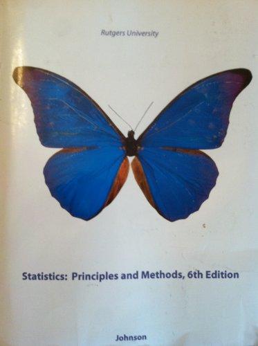 9780470734438: Statistics: Principles and Methods RUTGERS EDITION
