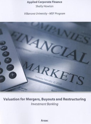 9780470735114: Valuation: Mergers, Buyouts and Restructuring