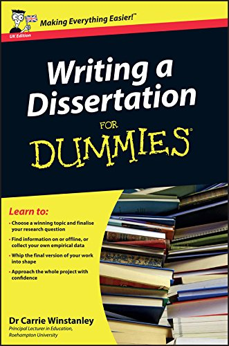9780470742709: Writing a Dissertation For Dummies - UK Edition