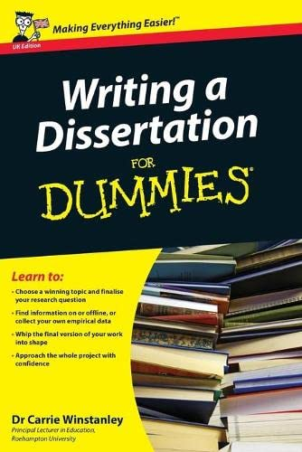 9780470742709: Writing a Dissertation for Dummies: Uk Edition