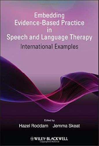 9780470743294: Embedding Evidence-Based Practice in Speech and Language Therapy: International Examples