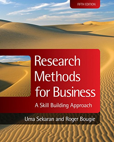 Research Methods for Business: A Skill Building: Uma Sekaran, Roger
