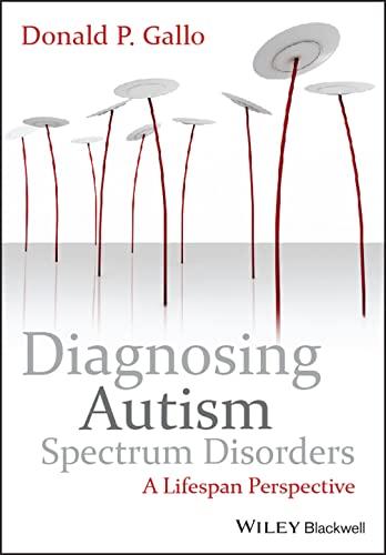 9780470749234: Diagnosing Autism Spectrum Disorders: A Lifespan Perspective