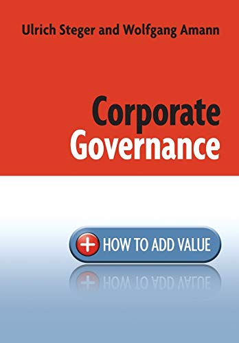 9780470754177: Corporate Governance: How to Add Value