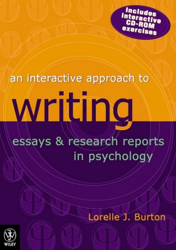 9780470800690: An Interactive Approach to Writing Essays and Research Reports in Psychology