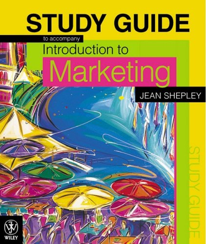 9780470801826: Introduction to Marketing Study Guide
