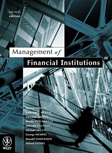 9780470803530: Management of Financial Institutions 2E